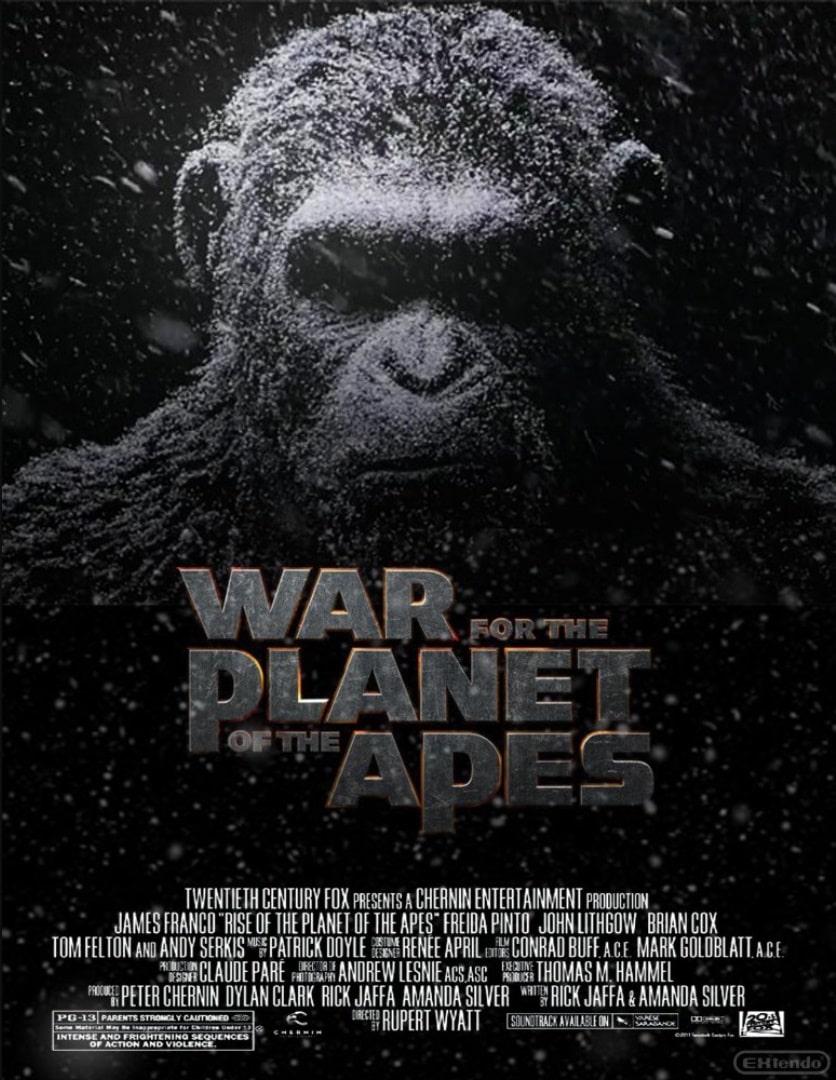 Планета обезьян: Война / War for the Planet of the Apes / La guerre de la planète des singes (2017): постер